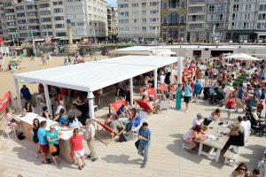 Pergola sur la plage à Hendaye par Ehia